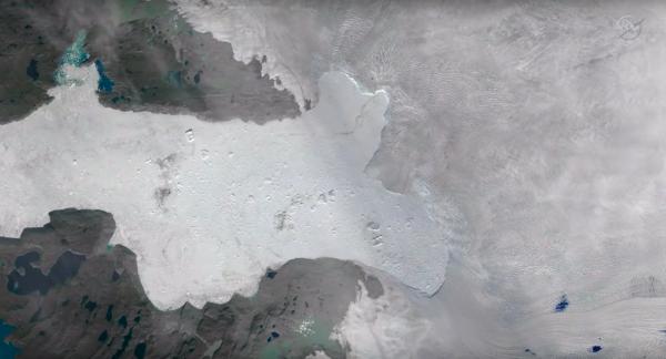 Быстротающий ледник Якобсхавн в Гренландии неожиданно снова начал расти