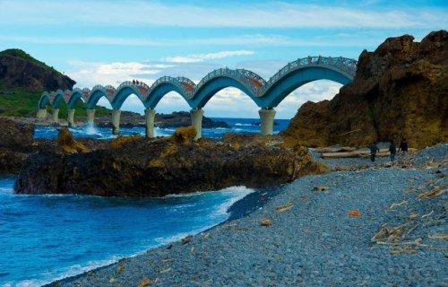 Сансянтай: Драконий мост на полуостров 3-х Бессмертных (17 фото)
