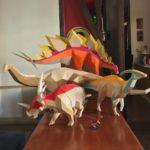 Трёхмерные бумажные скульптуры динозавров Себы Нараньо (10 фото)