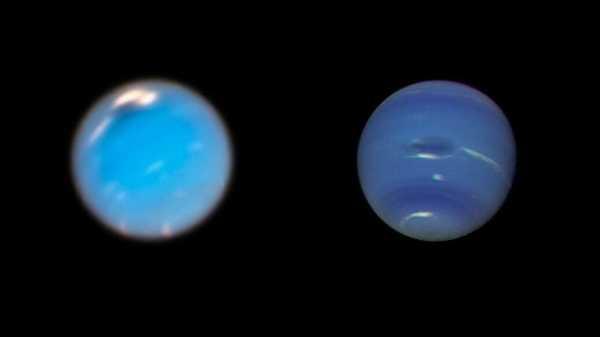 Посмотрите, как на Нептуне формируется огромный шторм — новое Большое темное пятно