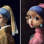 Художница воссоздаёт традиционные картины с персонажами поп-культуры (13 фото)