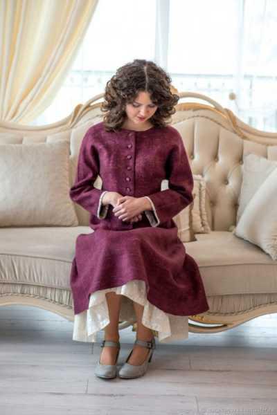 Уникальные платья из валяной шерсти от Натальи Ивановой (10 фото)