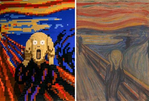 Знаменитые произведения искусства, воссозданные из LEGO (26 фото)