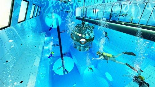 В Польше скоро откроется самый глубокий бассейн в мире — Deepspot глубиной 45 метров (5 фото)