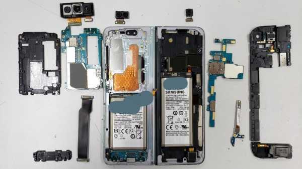 Складной Samsung Galaxy Fold разобрали на детали