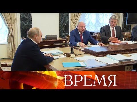 """В.Путин обсудил """"Прямую линию"""" с руководством своей администрации и ведущих российских телеканалов."""