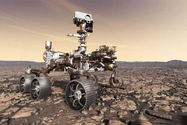 В НАСА завершили монтаж шести колес с моторами на новый марсоход Mars 2020 Rover