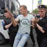 Алексея Навального задержали на акции в поддержку Голунова в Москве