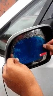 Гидрофобная наклейка на зеркало