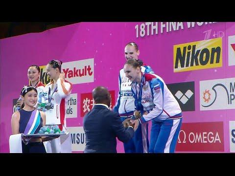 Еще одну золотую медаль завоевали российские синхронистки на Чемпионате мира по водным видам спорта.